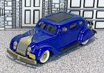 BRK 007 Brooklin 1/43 Chrysler Airflow 4-door Sedan Hard Top 1934 blue (1)