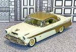 C1-7 01432 Collector's Classics 1/43 DeSoto Adventurer Hard Top 1956 white/gold  (1)