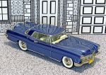 BRK 011 Brooklin 1/43 Lincoln Continental Mark II Hard Top 1956 blue met.