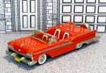 WMS 046X Western  Models 1/43 Ford Galaxy Skyliner Conv.Top Down 1959 red (1)